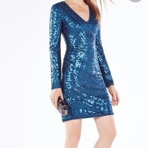 BCBG maxazria Morris Mosaic Tile Sequined dress